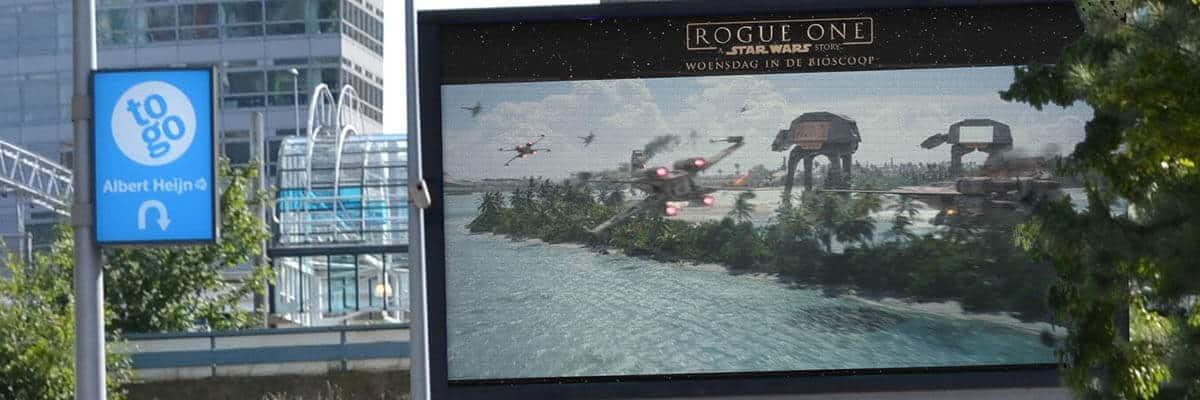 Disney Rogue One - DSlab Disney Rogue One out of home schermen