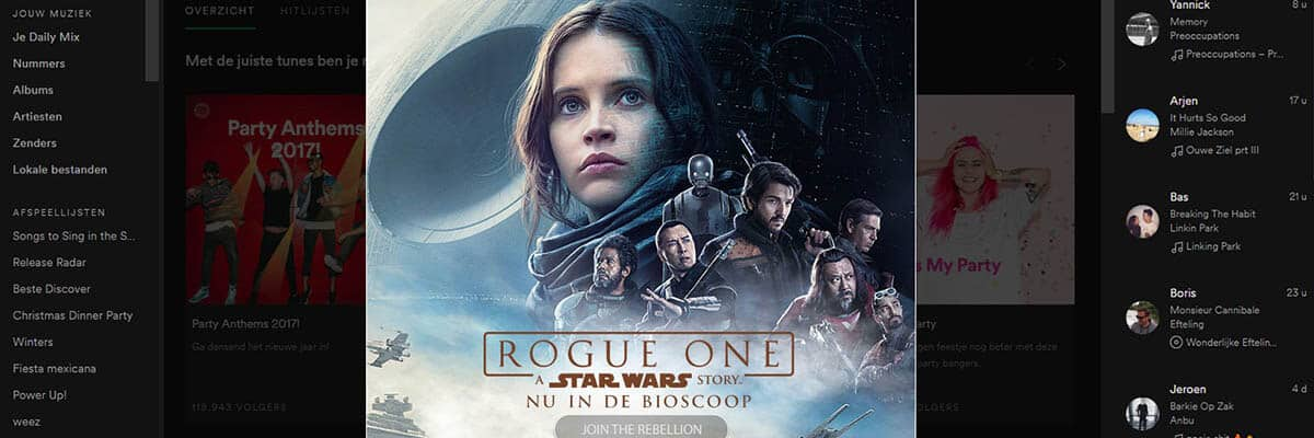 Disney Rogue One - DSlab Disney Rogue One spotify takeover