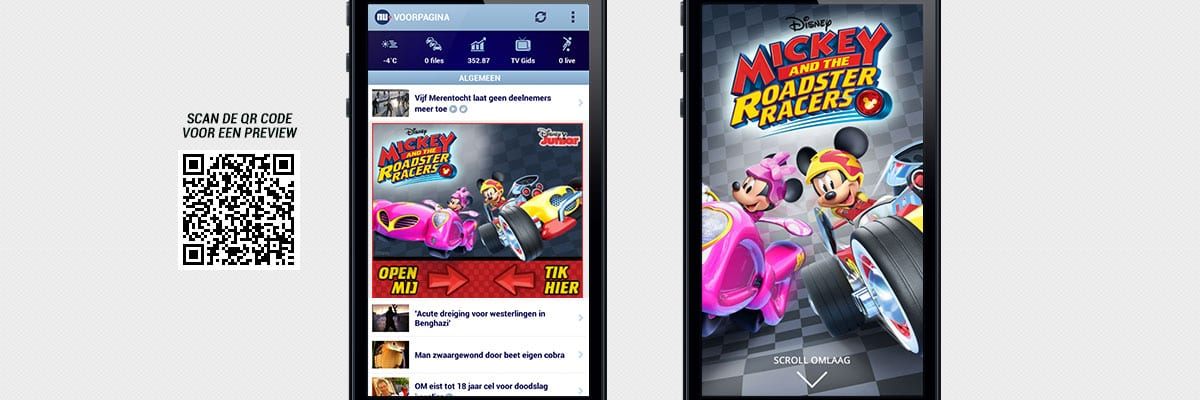 Disney Junior: Mickey and the Roadster Racers - Mobext canvas ad