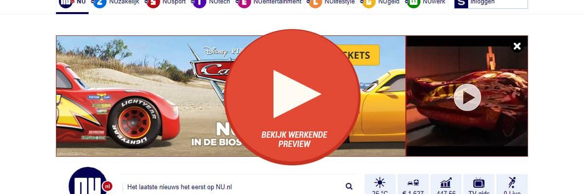 Disney Cars 3 - pathe billboard