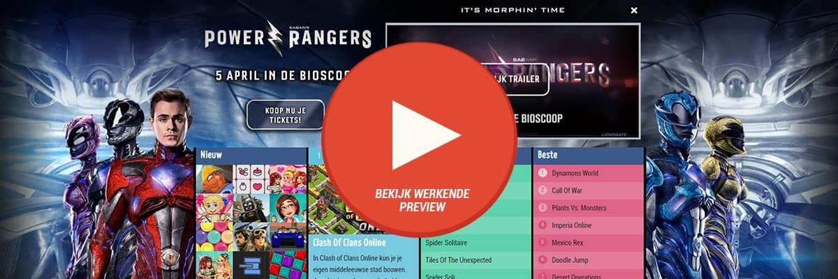 Belga Films: Power Rangers - videoHpto