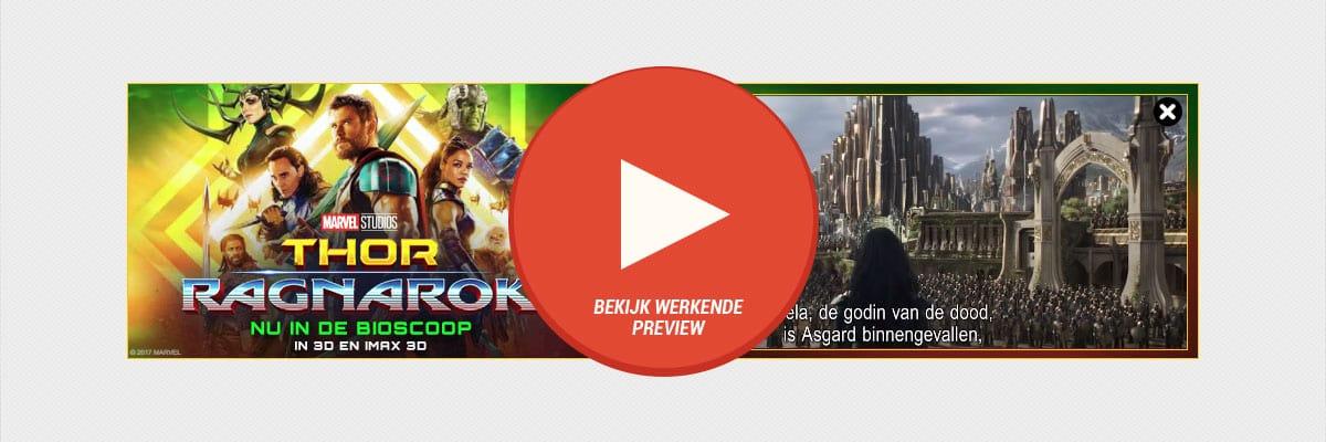 Thor Ragnarok - cases billboard 1