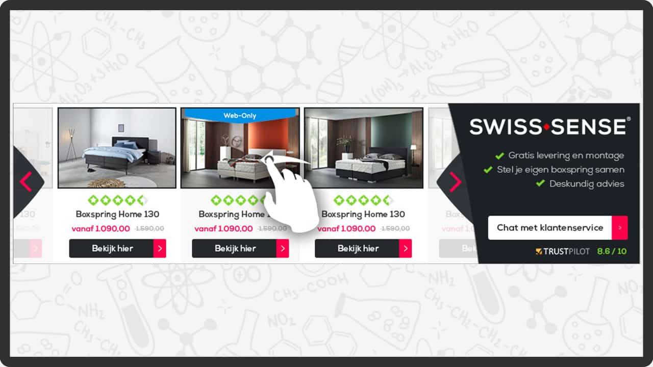 Dynamische HTML5 banners - DynamicBanners productWebshop
