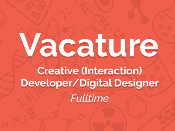 Creative (Interaction) Developer x Digital Designer - vacature creativedeveloperdesigner